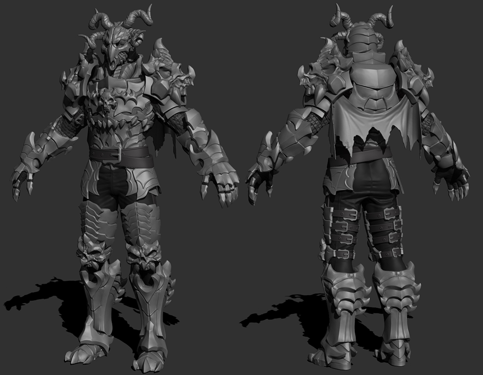 Skull Knight High Poly